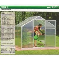 ΘΕΡΜΟΚΗΠΙΟ ΑΛΟΥΜΙΝΙΟΥ STARLINE II Βότσαλα-Ψηφίδες-Διακοσμητικά-Χώματα για κήπους-Διαχωριστικά κήπων-Θερμοκήπια αλουμινίου