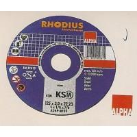 Δίσκος κοπής μετάλλου 115-125mm RHODIOUS Δίσκοι κοπής - λείανσης