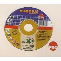 Δίσκος κοπής μετάλλου INOX 115-125mm RHODIUS Δίσκοι κοπής - λείανσης